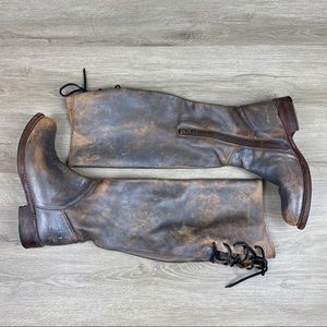 Bed Stu Shoes - Bed Stu Manchester Tall Distressed Riding Boots 7